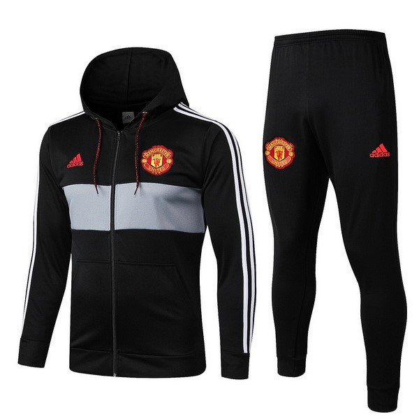 Chandal del Manchester United 2019-2020 Negro Rojo Gris