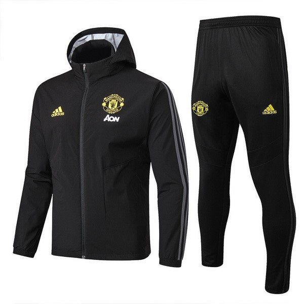 Rompevientos Manchester United Conjunto Completo 2019-2020 Negro