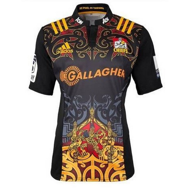 Camisetas Rugby Chiefs 1ª 2017 2018 Negro