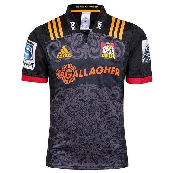 Camisetas Rugby Chiefs 1ª 2018 Negro